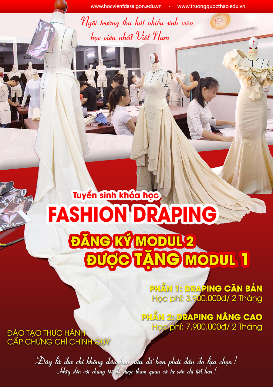 dung mau tren mannequin fashion draping