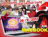 Học ngành thiết kế thời trang tháng 9-2017 nhận ngay Macbook Air